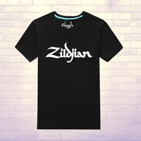 Logo avedis zildjian cymbals cymbal jazz drum rack cotton short-sleeve 100% T-shirt multicolor