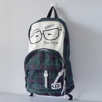 Hot pack ldquo . small glasses rdquo . sports bag backpack man bag women's handbag backpack school bag travel bag red green grid