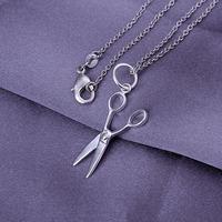 Free shipping wholesale for women's/men's fashion jewelry chains necklace 925 silver pendant scissors pendant necklace SP102