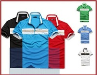 HOT!Free Shipping 2013 New Men's Polo T-Shirts Casual Slim Fit Stylish Short-Sleeve Shirt Cotton T-shirt Size:M-XXL C14