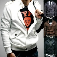 2014 Stylish Men's Slim Sexy Top Designed Zipper Jacket Coat Top 4 Colors MF-37296