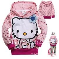 2013new,children's sweater girls tops sweater boys Hooded Sweater autumn wear ,Kids hoodie,children hooded jacket hello kitty
