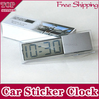 Free Shipping 5 pieces/lot Car Vehicle Electronic Digital Lcd Screen Autoclock Clock  Suction Cup time Back-light Transparent