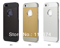 MOQ 1pcs Ultra Thin Brushed Aluminum Case For iPhone 5 Moshi With Retail Box and Free Crystal  Dust Plug+Free Shipping!!