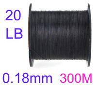 300M 20LB 0.18mm Strong Dyneema Fishing Line Braided 4 Strands Wholesale Free shipping