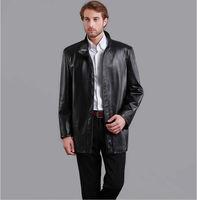 2013 Hot Sale Leather & Suede Men's Coats & Jackets Fur&Faux Fur for Man M to XXXL plus size 2 colors Mandarin-collar Free Ship