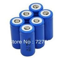6 X 2000mah 3.7v Cr123a 123a 16340 Rechargeable Battery Green for Ultrafire