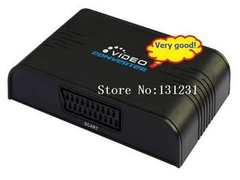 Free Shipping LKV382 1pcs New HDMI To Scart/AV Converter HDCP Standard Resolution