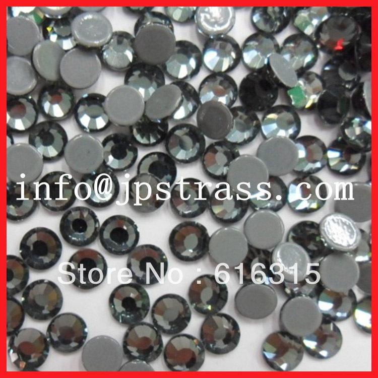 Hot fix rhinestone size ss20 in black diamond china factory directly sale in bulk quantities(China (Mainland))