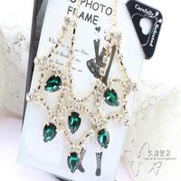 Crystal glass colnmnaris necklace chain fashion unique luxury version necklace
