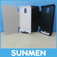 Back cover flip leather case 2600mAh battery charge case for galaxy s4 mini free shipping+retail box,MOQ 1 pcs