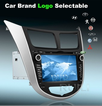 Hyundai Solaris Verna Car GPS Navigator with  Internet Radio 2 din 7 inch  Free Map Free SD  card