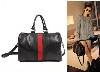 NEW Hobo 2013 Fashion Girl Boston Tote PU leather Lady Casual Handbag Shoulder Bag