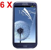 2014 6 X Screen Protector Guard Clear + cloth for Samsung Galaxy S III S3 i9300/T999/i535/L710