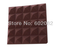 "10pcs Hing Quality Acoustic Pyramid Foam Panels Sponge Coffee Brow Color   2.75 ""thickness"