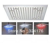 100 Top selling 3 color change sensor led water shower bath rainfall shower head