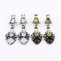 Min Order $15(Can Mix Item)2013 Luxurious Vintage Dark Green Blue Chandelier Drop Earring