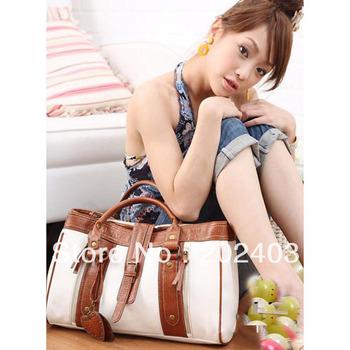 Fashion Women Lady Korean Preppy style Handbag Shoulder PU Leather Bag Totes