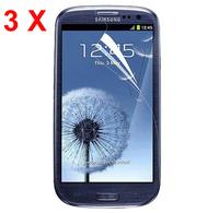 2014 3 X Clear Screen Protector Guard + cloth for Samsung Galaxy S III S3 i9300/T999/i535/L710
