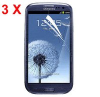 2015 3 X Clear Screen Protector Guard + cloth for Samsung Galaxy S III S3 i9300/T999/i535/L710