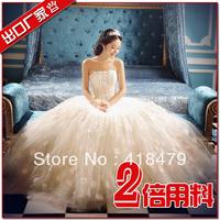 Promoting Limited Korean version of sweet princess bride Bra Korean flower petal skirt wedding dress 2013 newest upscale Bra