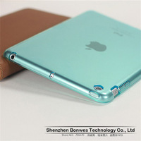 10pieces/lot,Transparent colors Slim Fit Flexible TPU Case for ipad mini,free shipping