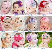 New Fashion Children's headdress baby lace flower headband Elastic Floral Headband TY4015