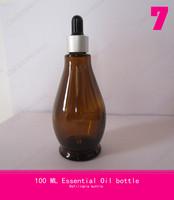 100 ML Gourd shaped bottle of essential oils ,aluminum spray bottle ( rubber head + glass dropper)essential oil spray bottles