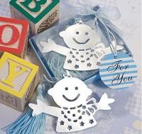 Wedding Favor - 100 PCS/LOT Sonny Angel Metal Bookmark Baby Gift Book Mark, With White Tassel Festival Christmas Gifts