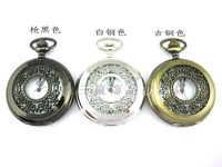2014 New Fashion cutout Large vintage pocket watch pocket watch necklace camel table rahb129b  Free Shipping