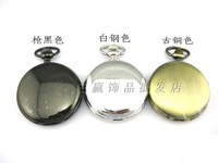 2014 New Vintage double faced glossy Large pocket watch necklace camel table rahb812b  Free Shipping