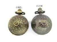 2014 New Fashion vintage globe ball pattern pocket watch necklace rahb799  Free Shipping