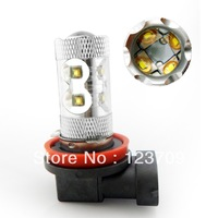 Durable Quality Aluminium Housing 60W H8/H9/H11 Car LED Bulb Cree 12V-24V