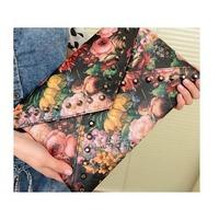 NEW SALE WOMEN'S RIVET HANDBAG BAG VINTAGE PREPPY FLOWER OIL PAINTING BAG ENVELOPE BAG BG-0092890 HOT