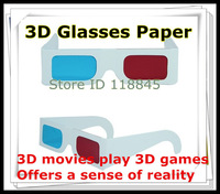 Hot selling 50 pcs/lot paper anaglyph 3d glasses paper 3d glasses vieweranaglyphic red cyan red/blue 3d glass