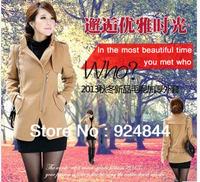 New women's autumn and winter fashion casual windbreaker jacket Slim Korean women short woolen  coat