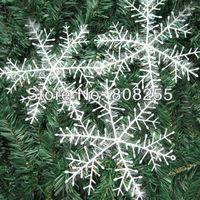 Christmas Gift 100pcs/lot 22x22cm White Snowflake Christmas Ornament Decoration H001