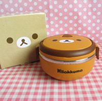 Single tier relaxed bear insulation boxes scallywag cartoon child lunch box metal liner