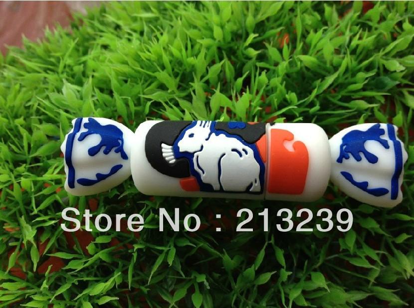 Wholesales!New Cartoon white rabbit candy model usb 2.0 memory flash stick pen thumbdrive/gift(China (Mainland))