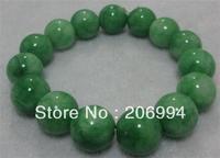 Wholesale new arrive handmade 12mm nature beautiful green jade jadeite bracelet 2pc/lot fashion jewelry
