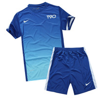 Soccer jersey set football jersey breathable football clothing paintless soccer jersey short-sleeve training service male