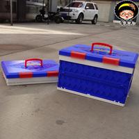 Car oversize folding plastic trunk finishing box car storage box storage box auto supplies