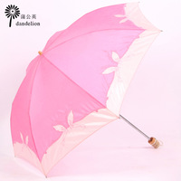 Free shipping Pearl embossed embroidery sun umbrella anti-uv sun protection umbrella sunscreen umbrella pencil folding
