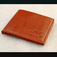 Male short design light color genuine leather wallet wallet male commercial multi card holder horizontal casual bag