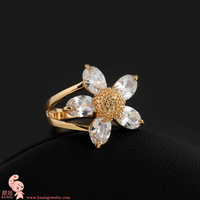 New Arrival Deluxe 18K Real GF Clear Crystal Womens Ring,Wholesale (KUNIU J0741) FREE SHIPPING