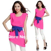One simple hit color  women dress 86130
