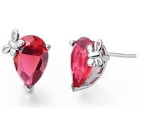 butterfly charm fashion korea style bow tie hotsale sliver Austria crystal stud earring for lady girl's earrings wholesale #8248