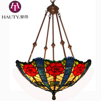 Free Shipping 18 Inch Tiffany Chandelier European-Style Garden American Country Decor Lamp Butterfly Rose/Pendant Lamp