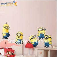Free Shipping 45x60cm Despicable Me2  Cartoon Wall Sticker for Kid's Room