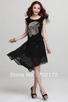 Irregular fashion women dress 99220